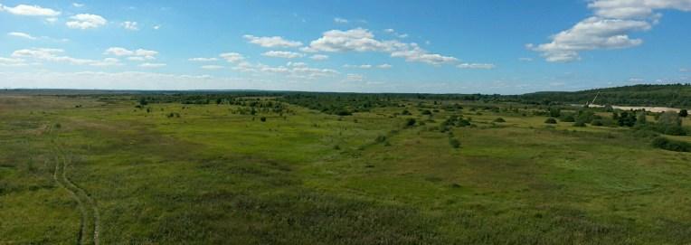 Oh Gott, welch ein weites Land.... Tschuwaschien, Nischni Novgorod Oblast, sowie die Republik Mari El am Horizont rechts, vereint zur Russischen Welt in all ihrer Weite ....