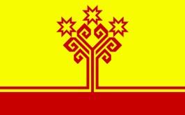 Natürlich hat die Republik Tschuwaschien auch eine eigene Flagge.