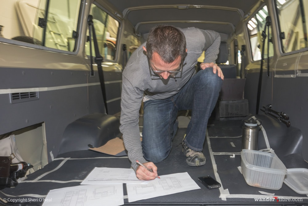 Refining interior measurements of our Land Cruiser Troop Carrier