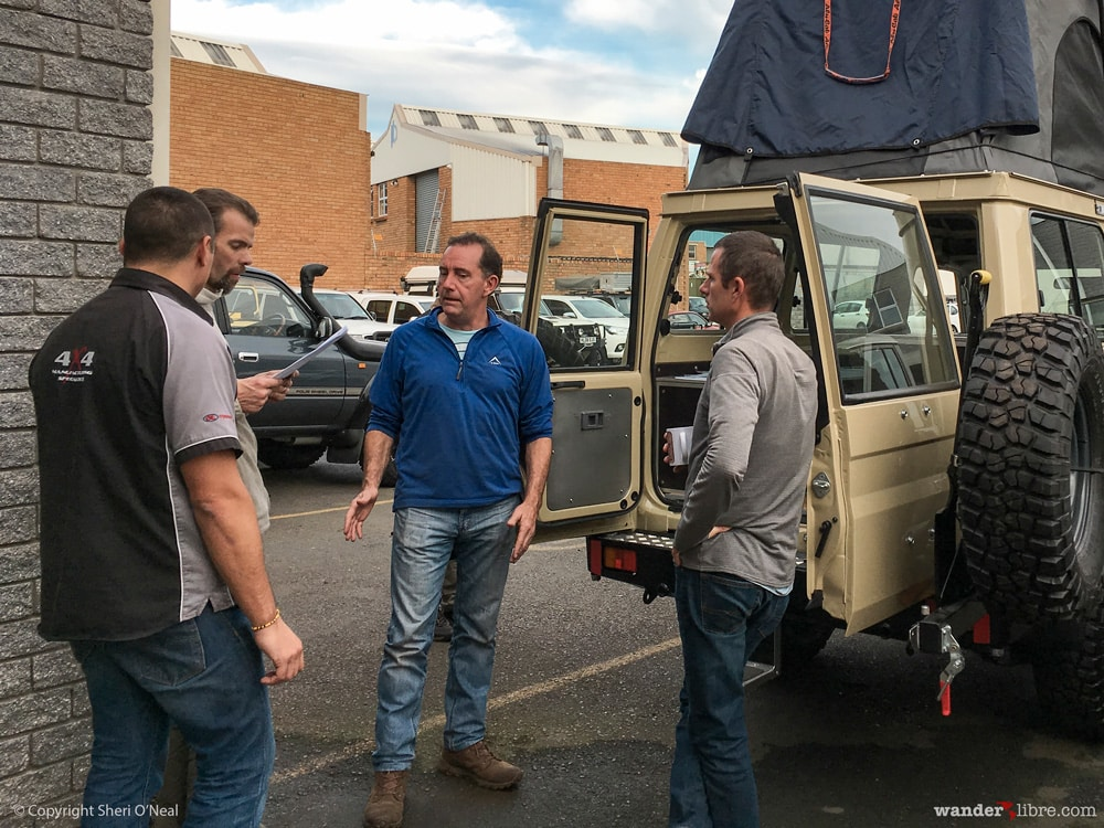 Meeting with Paul Marsh and R&D Offroad to discuss Land Cruiser modifications
