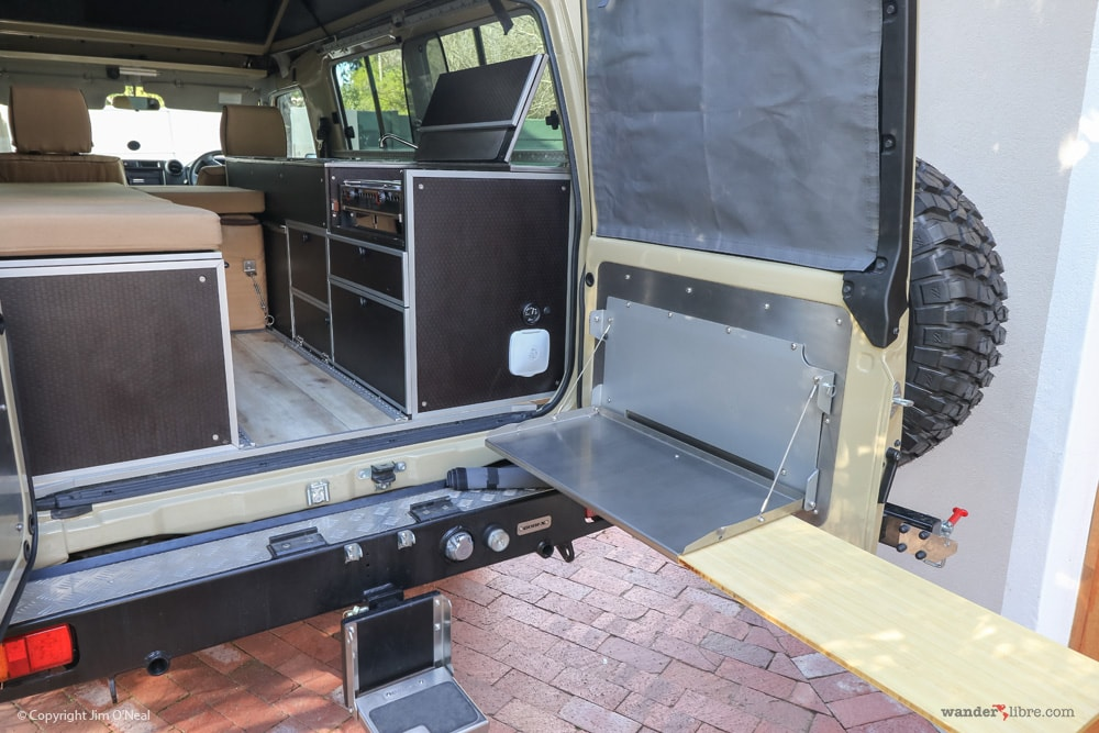 Land Cruiser Camper Conversion Outback Adventures Drop-down Table