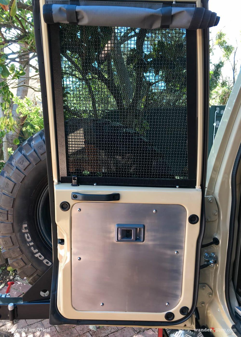 Troopy Cargo Door With SS Door Insert, SS Window Security Screen & Privacy Curtain