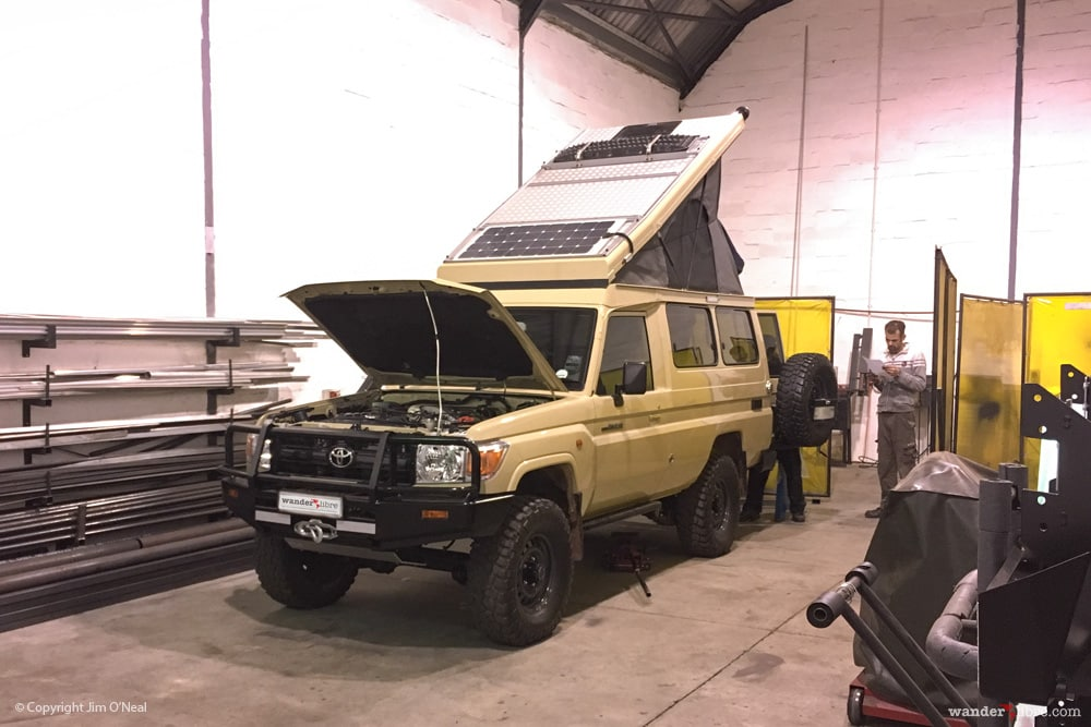 Land Cruiser Troopy Camper conversion at R&D Offload in Cape Town
