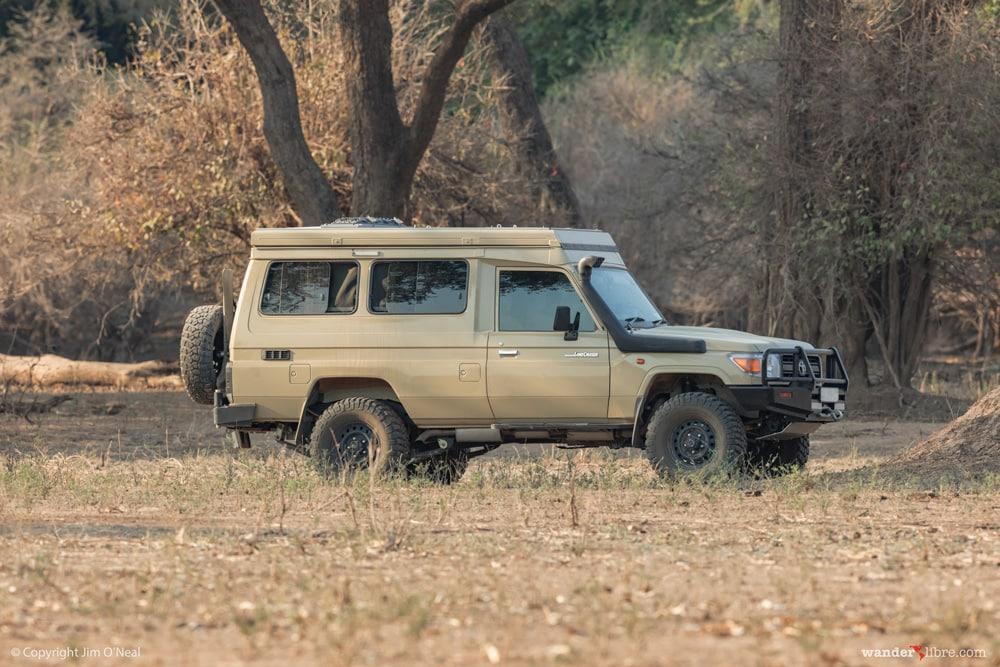 Land Cruiser Troopy Camper in Mana Pools, Zimbabwe