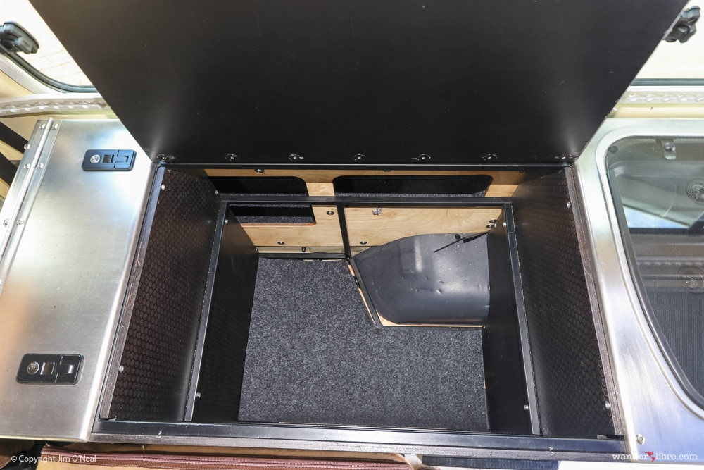 2 Level Storage Compartment w/ Access to In-Wall Storage