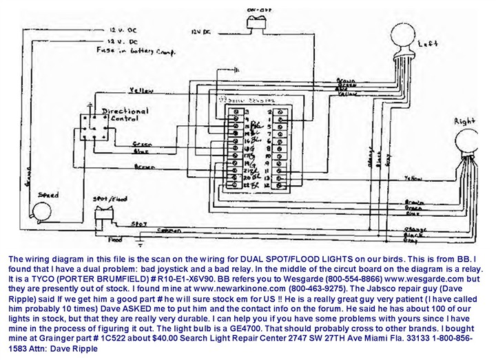 wiring diagram 4 spotlights 2002 dodge ram radio jabsco spotlight all data marine trailer diagrams automotive