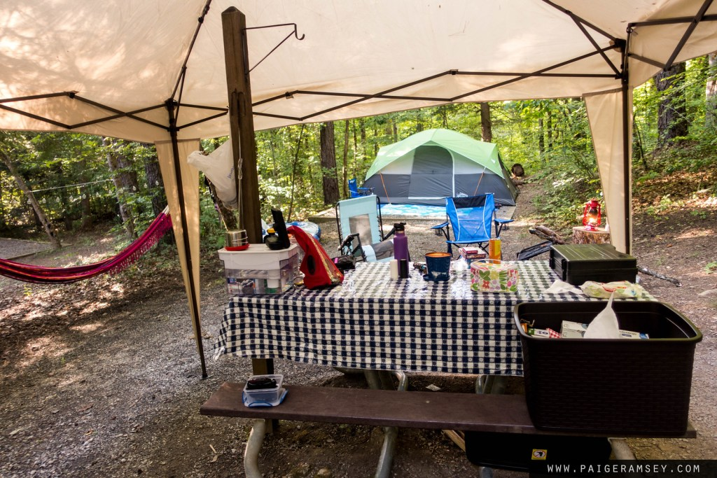 Our super cute set up at Deep Creek Campground.