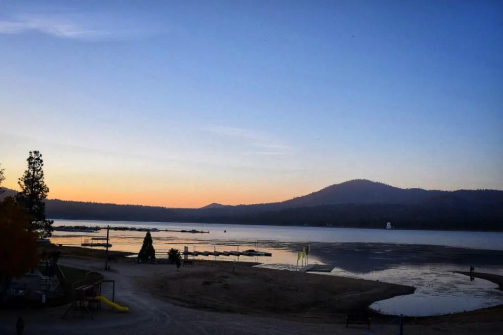 The view from the room at Marina Resort Big Bear Lake California
