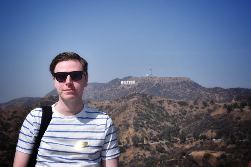 The view of the Hollywood sign from the Griffith Observatory