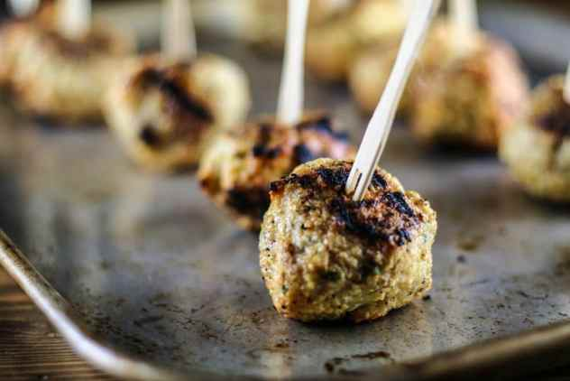 Grilled Gyro Meatballs