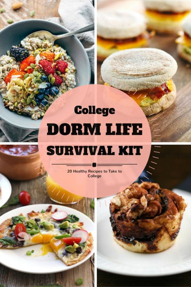 20 recipes for your dorm room survival kit