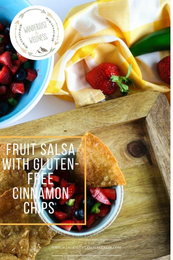fruit salsa with gluten free cinnamon chips
