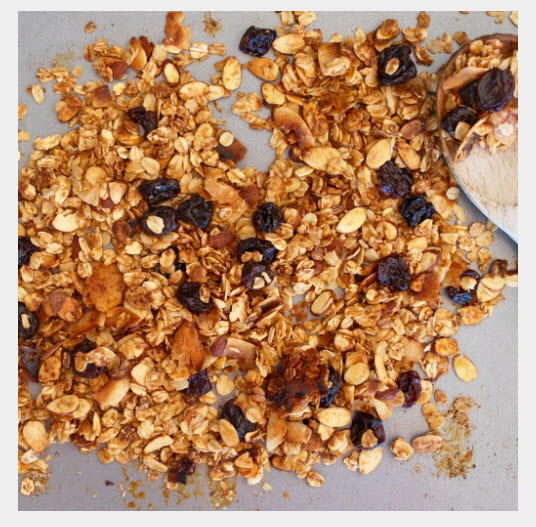 spiced cherry almond granola