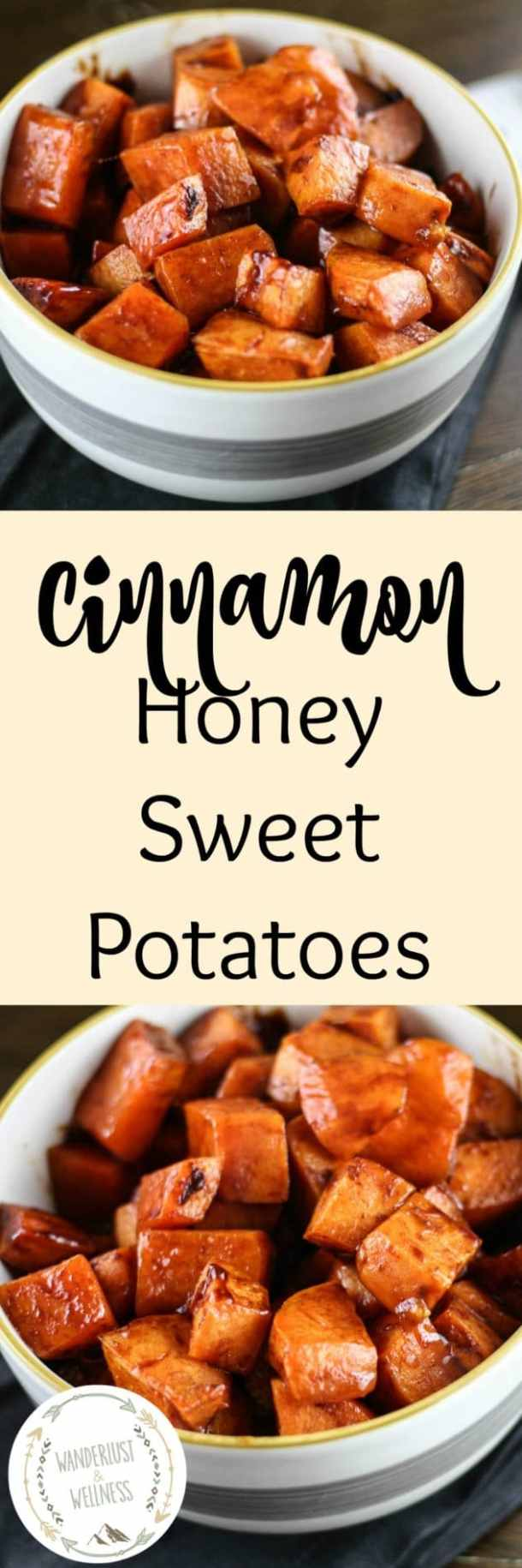 Cinnamon Honey Sweet Potatoes