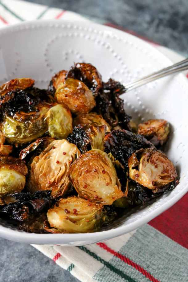Honey Caramelized Brussel Sprouts