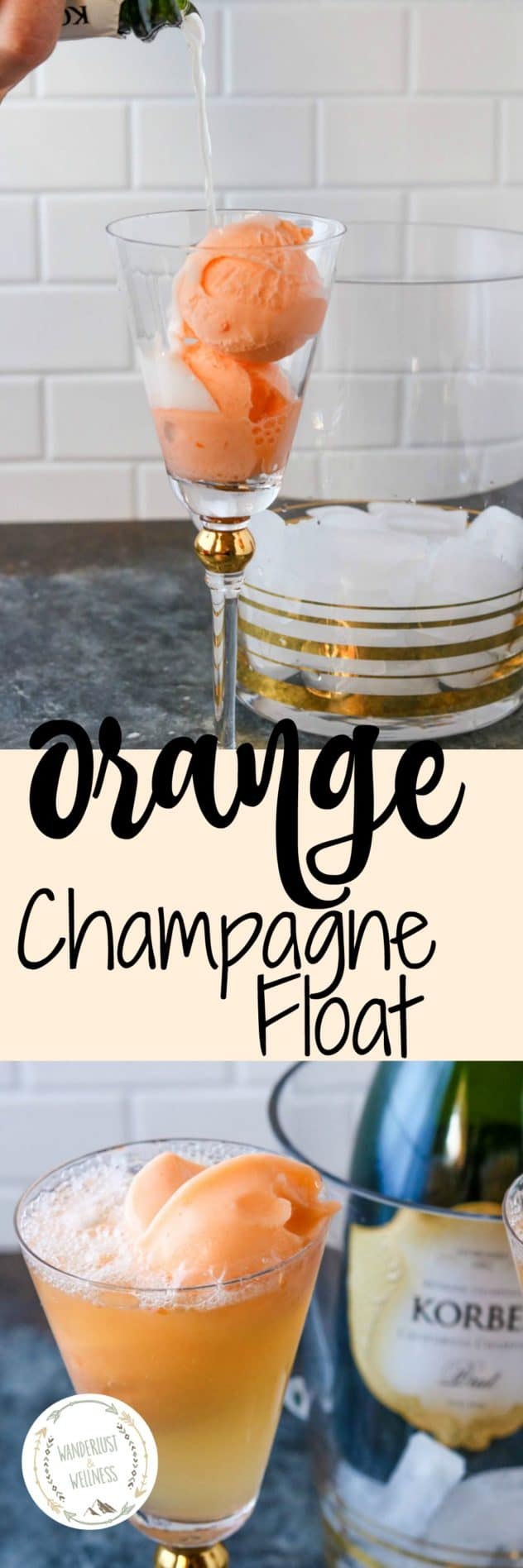 Orange Sherbet Champagne Float