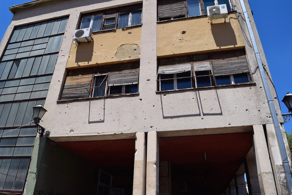 Evidence of Mostar's tragic past