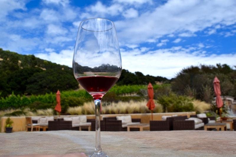 Wine tasting at Nicholson Ranch, Sonoma Valley, California