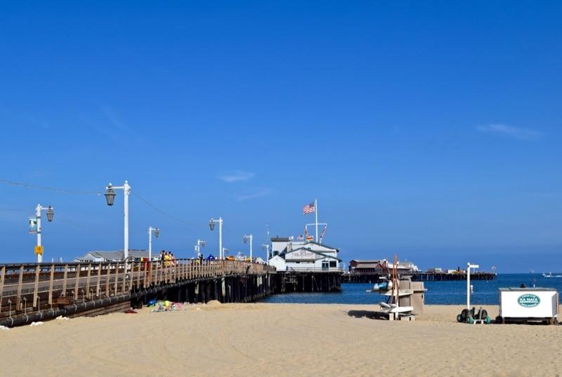 Santa Barbara pier and beach