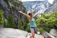 Enjoying the view in Yosemite National Park