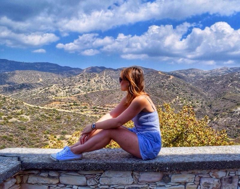 Enjoying the views from Vavla, Cyprus