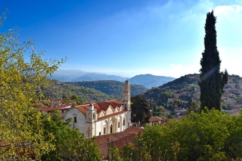 View of Lofou Village, Cyprus