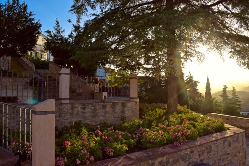 The gardens by Puente Nuevo, Ronda, Spain