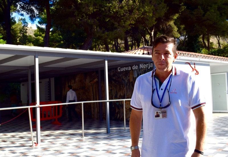 Our famous tour guide at the Nerja caves