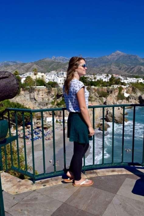 Enjoying the view in Nerja, Spain