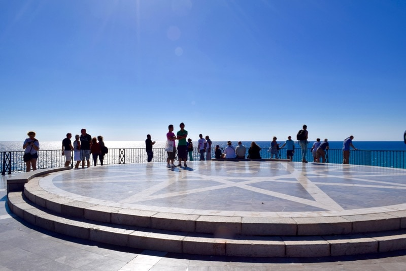 The centre of the balcony of Europe in Nerja, Spain