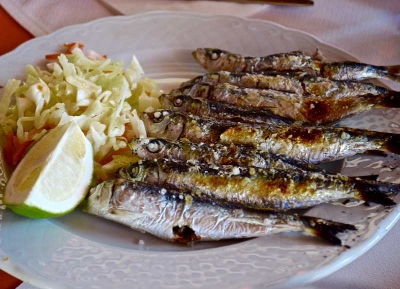 Fried fish by the sea at La Barca Restaurant, Nerja, Spain