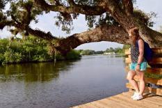 Enjoying the views in the Delaplane Preserve, Martin County, Florida