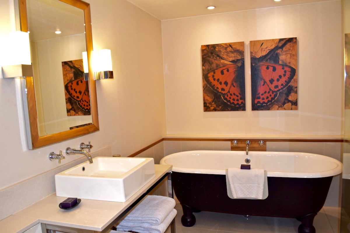 Bathroom in our deluxe bedroom at The Grove  Hertfordshire. REVIEW  The Grove  Hertfordshire   A 5 Star Luxury Break From London