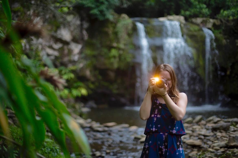 Taking a photo in Hawaii