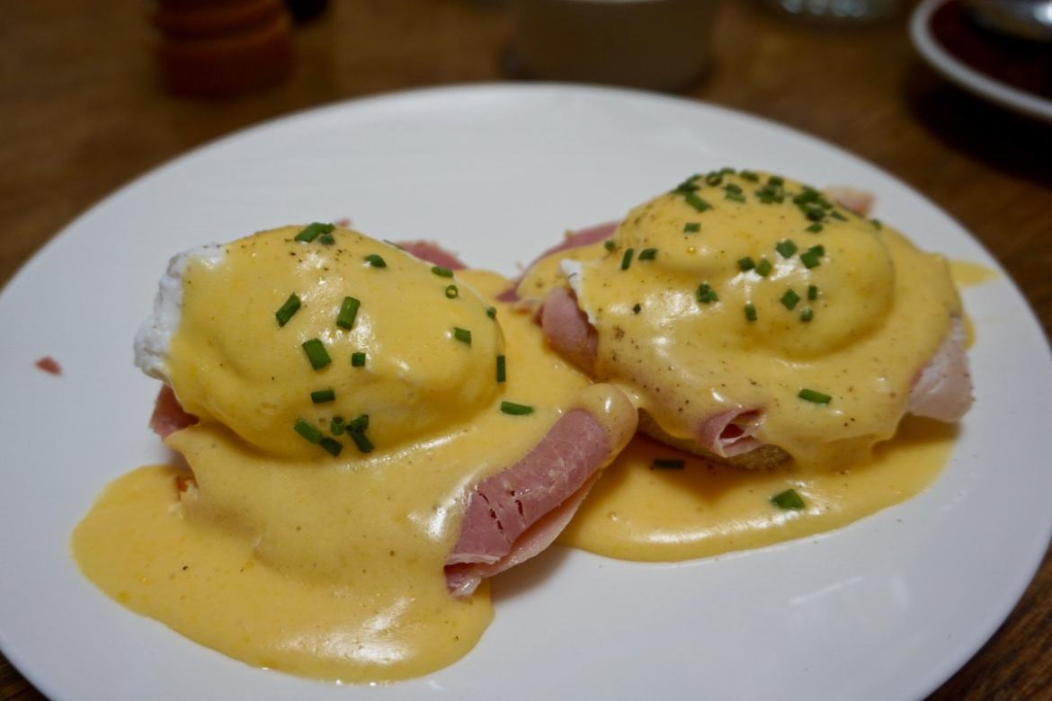 Eggs benedict at The Zetter Hotel, London