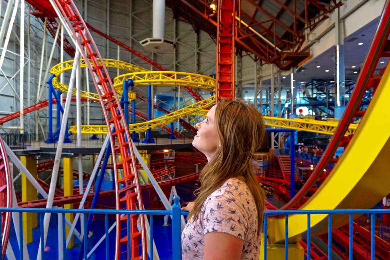 Mindbender rollercoaster in Edmonton, Canada