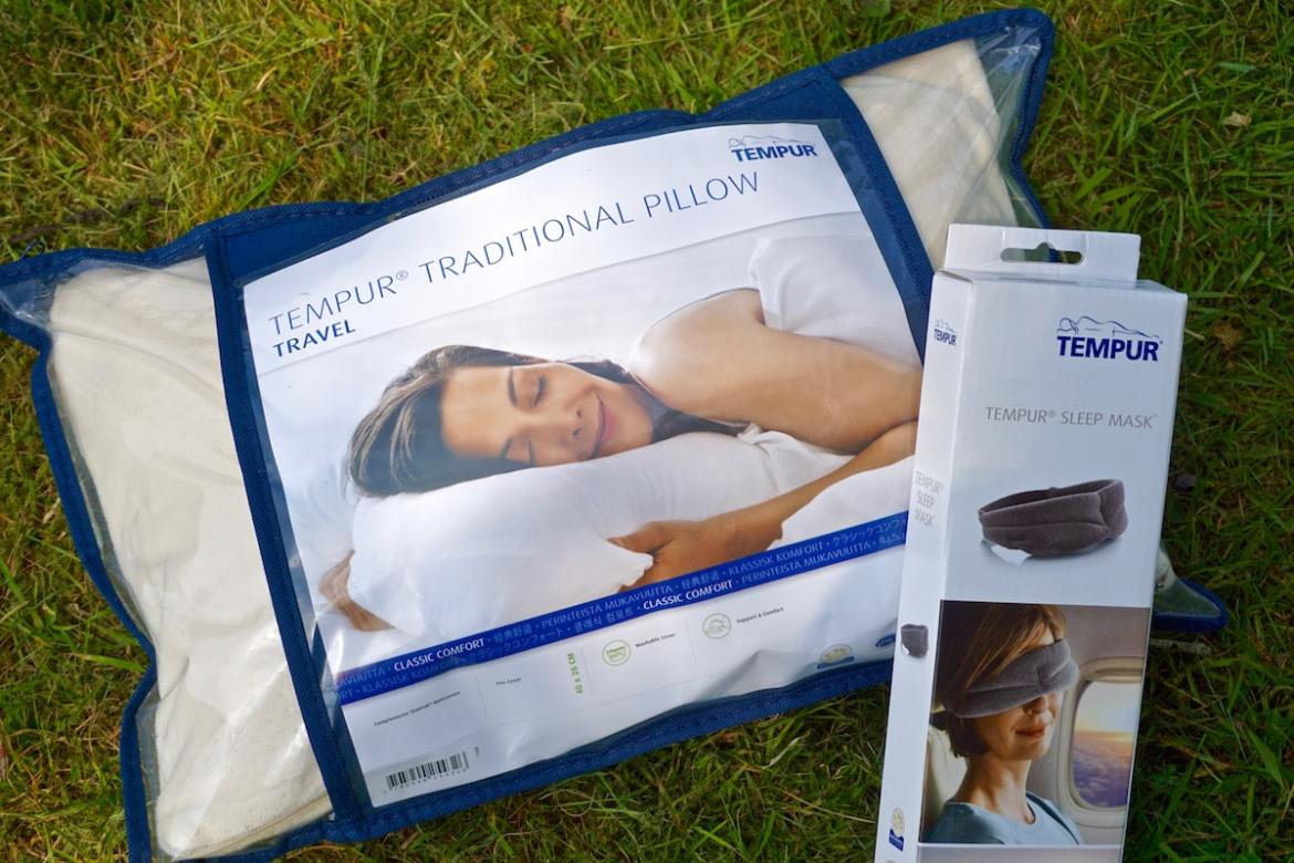 Tempur Comfort Travel Pillow and Sleep Mask