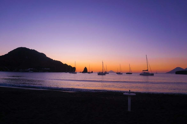Beautiful sunsets in Vulcano, Sicily