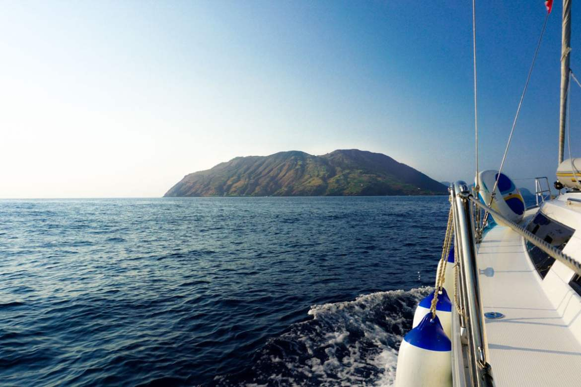 Views of the Aeolian Islands in Sicily