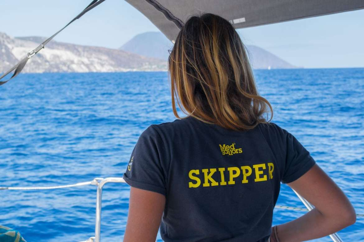 Our skipper Beatrice in Sicily
