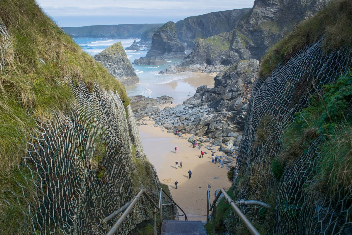 The steps... Bedruthan Steps, Cornwall