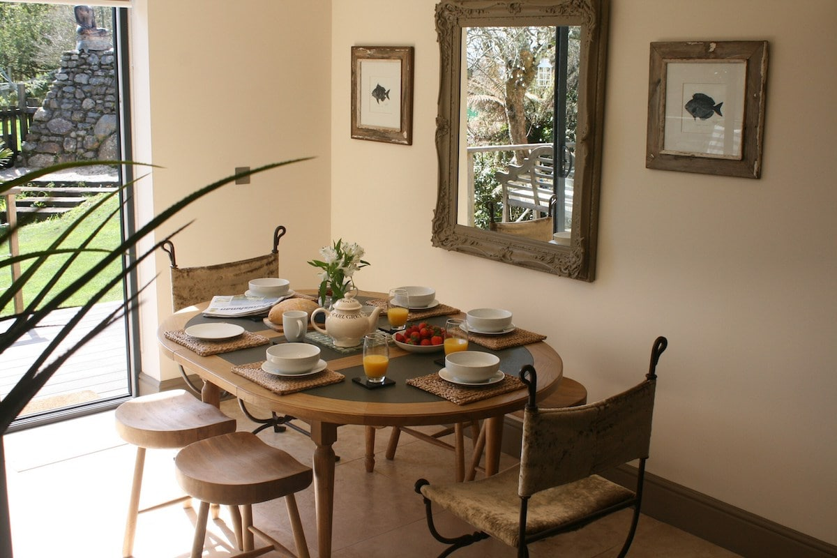 Dining area at The Summer House, Cornwall