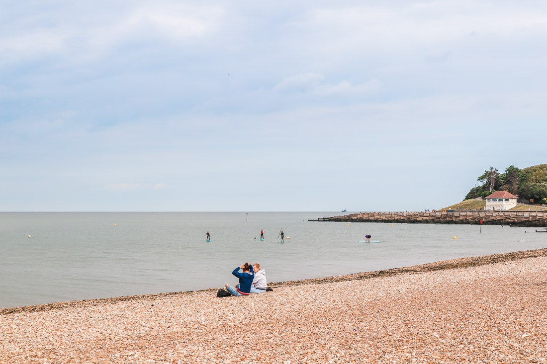 Paddle boarding in Whitstable
