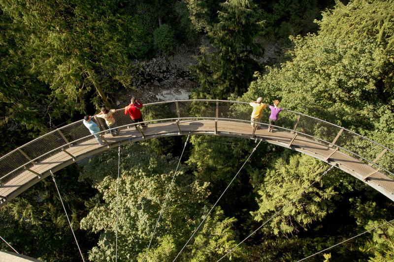 Visitare il ponte sospeso di Vancouver capilano