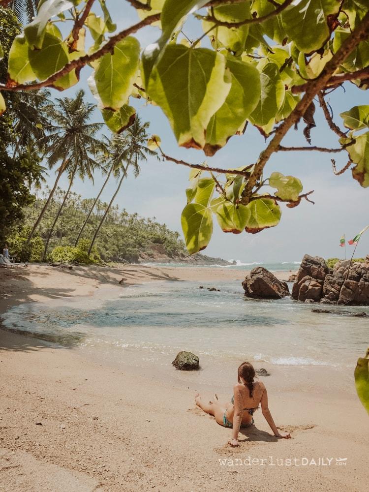 secret beach mirissa come arrivare