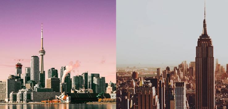 da toronto a new york