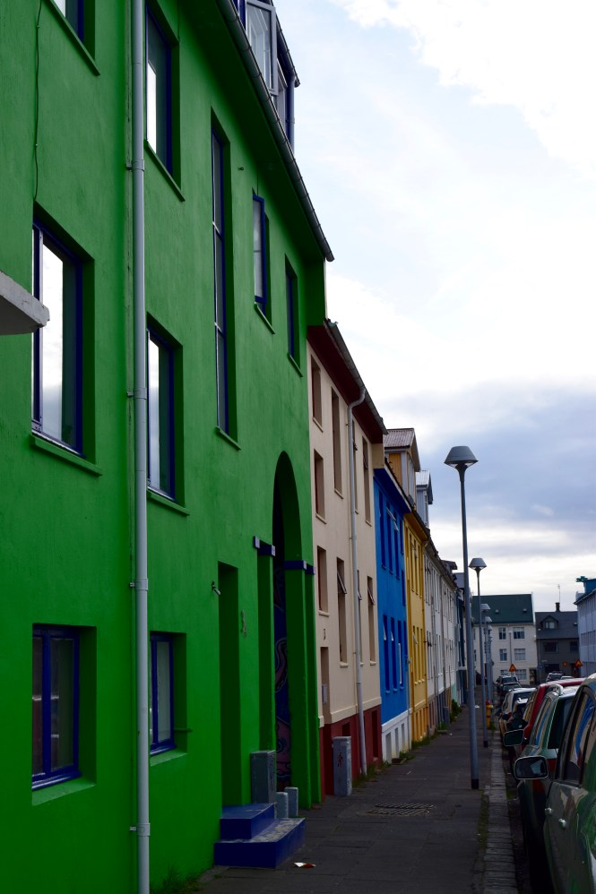 Colorful Homes on Icelandic Street