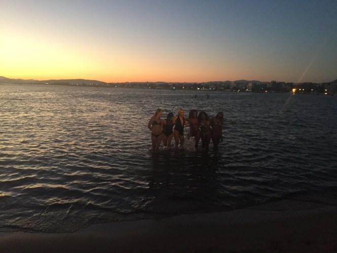Nina Sunset swim in the Aegean Sea during Yacht Week Greece