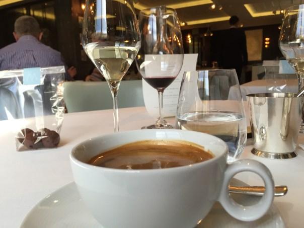 Coffee and wine...Marcus Wareing, Knightbridge