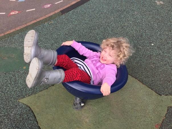 Mrs T having fun at the playground